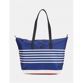 Tommy Hilfiger Women Blue Totebag With 2 Compartment