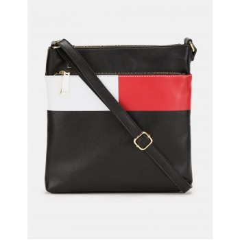 Tommy Hilfiger Women Black Messenger bag With 4 Compartment