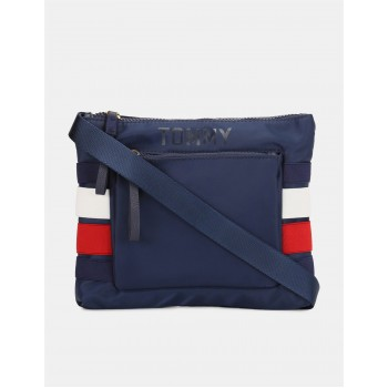 Tommy Hilfiger Women Blue Messenger Bag With 4 Compartment