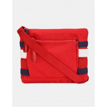 Tommy Hilfiger Women Red Messenger Bag With 3 Compartment