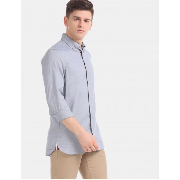 Tommy Hilfiger Men Purple Solid Casual Shirt