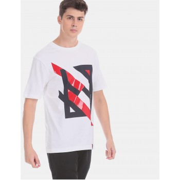 Tommy Hilfiger Men White  Printed Casual T-Shirt