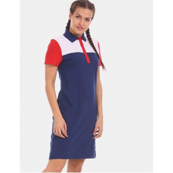 Tommy Hilfiger Women Blue Solid Casual Dress