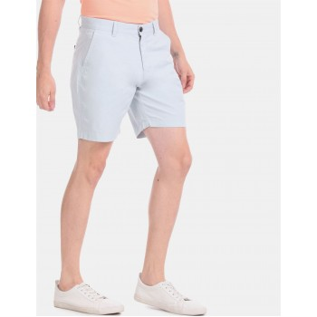 Aeropostale Men Casual Wear Sky Blue Basic Shorts