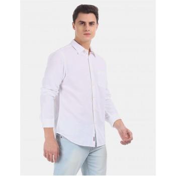 Aeropostale Men Casual Wear White Shirt
