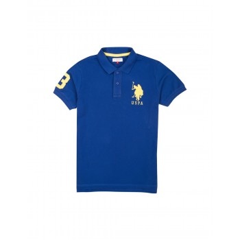 U.S. Polo Assn. Boys Solid Pique Polo Shirt