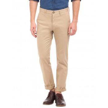 U.S. Polo Assn. Men Beige Casual Trousers