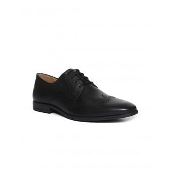 Arrow Men Formal Wear Black Lace Up Derby Shoes