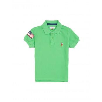U.S. Polo Assn. Boys Solid Piqued Cotton Polo Shirt