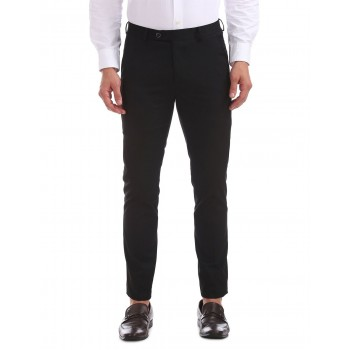 Arrow New York Men Formal Wear Black Trouser