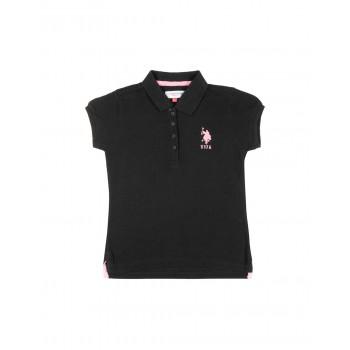 U.S. Polo Assn. Girls Solid Pique Polo Shirt