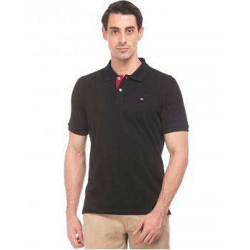 Arrow Sports Men Casual Wear Black T-Shirt