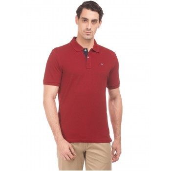 Arrow Sports Men Casual Wear Red T-Shirt
