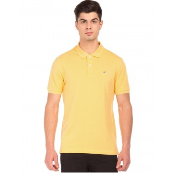 Arrow Sports Men Casual Wear Yellow T-Shirt