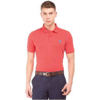 U.S. Polo Assn. Men Casual Wear Red T-Shirt
