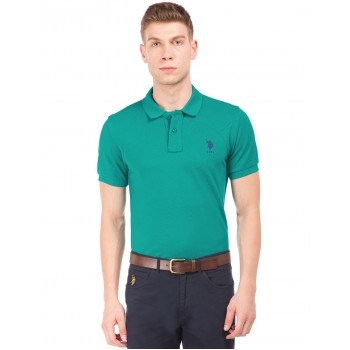 U.S. Polo Assn. Men Casual Wear Green T-Shirt