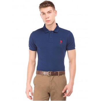 U.S. Polo Assn. Men Casual Wear Navy Blue T-Shirt