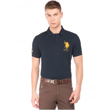 U.S. Polo Assn. Men Casual Wear Navy Blue T-Shirt
