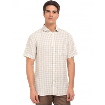U.S. Polo Assn. Men Casual Wear Beige Shirt
