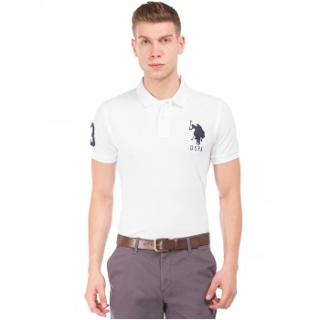 U.S. Polo Assn. Men Casual Wear White T-Shirt