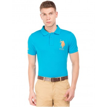 U.S. Polo Assn. Men Casual Wear Blue T-Shirt
