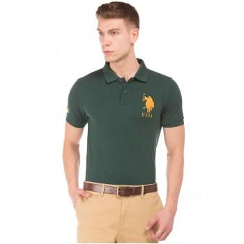 U.S. Polo Assn. Men Casual Wear Green T-Shirt