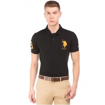U.S. Polo Assn. Men Casual Wear Black T-Shirt
