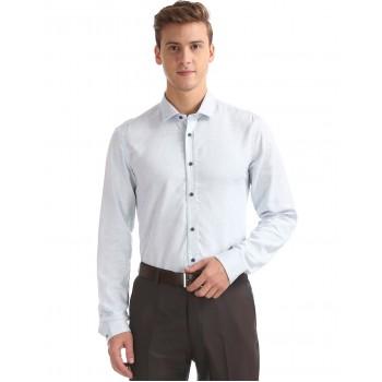 Arrow New York Men Formal Wear Sky Blue Shirt