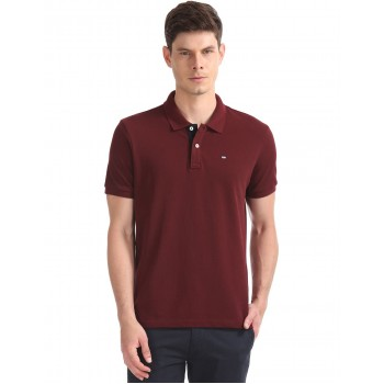 Arrow Sports Men Casual Wear Maroon T-Shirt