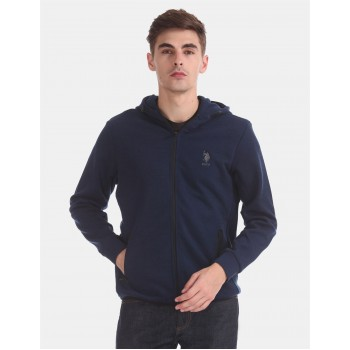 U.S. Polo Assn. Men Casual Wear Navy Blue Sweatshirt