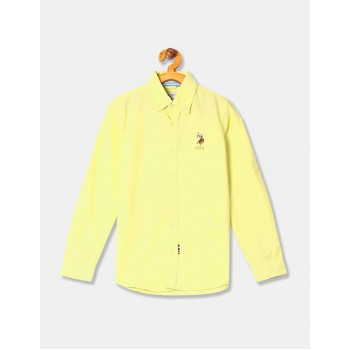 U.S. Polo Assn. Boys Solid Oxford Shirt