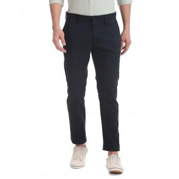 U.S. Polo Assn. Men Navy Blue Casual Trousers