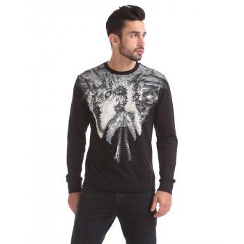Ed Hardy Men Casual Wear Black Sweatshirt