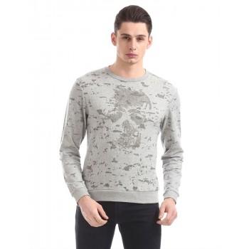 Ed Hardy Men Casual Wear Grey Sweatshirt