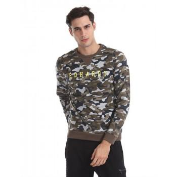 Ed Hardy Men Casual Wear Green Sweatshirt
