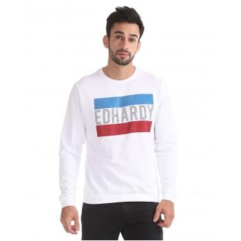 Ed Hardy Men Casual Wear White Sweatshirt