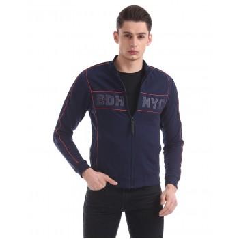 Ed Hardy Men Casual Wear Navy Blue Sweatshirt
