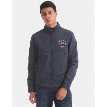 U.S. Polo Assn. Men Casual Wear Blue Bomber Jacket