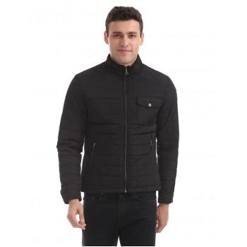 Arrow Sports Men Casual Wear Black Jacket