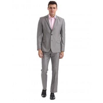 Arrow Men Formal Wear Grey Flat Front Suit