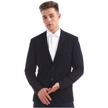 Arrow Men Formal Wear Navy Blue Single Breasted Blazer