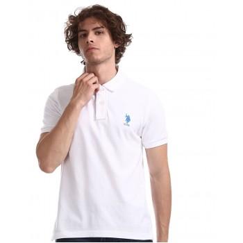 U.S. Polo Assn. Men Casual Wear White T-Shirt