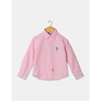 U.S. Polo Assn. Boys Long Sleeve Solid Shirt