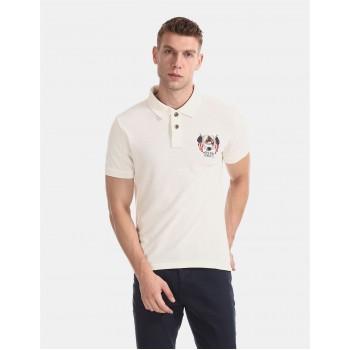 U.S. Polo Assn. Men Casual Wear Off White T-Shirt