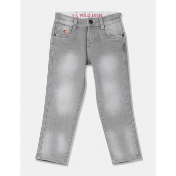 U.S. Polo Assn. Boys Slim Fit Stone Wash Jeans