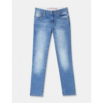 U.S. Polo Assn. Boys Stone Wash Whiskered Jeans