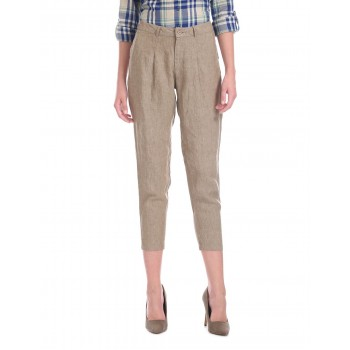 U.S. Polo Assn. Pleated Front Linen Trousers