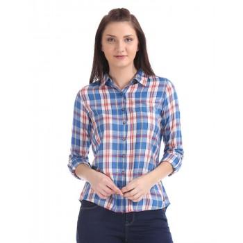 U.S. Polo Assn. Spread Collar Check Shirt