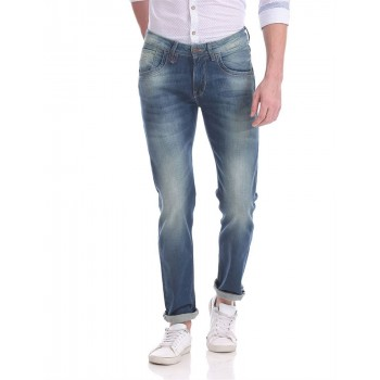 Flying Machine Men Casual Wear Blue