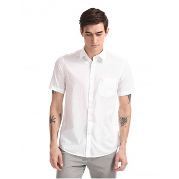 U.S. Polo Assn. Men Casual Wear White Shirt